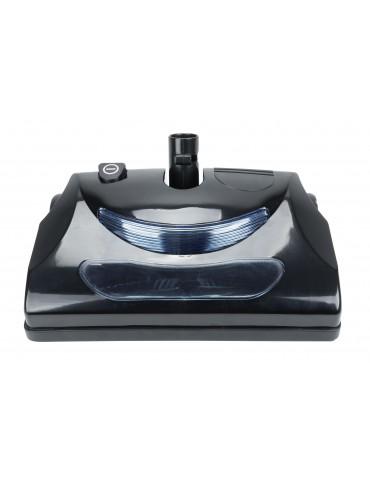 "Power Nozzle - 12"" (30.5 cm) Width - Black - Geared Belt - Headlight - Metal Roller Brush - Replacable Hair Strip - Johnny Vac PN11BK"