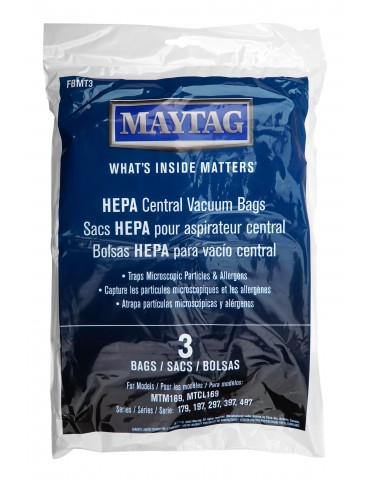 HEPA Microfilter Bags for Maytag® Central Vacuum - 3-Pack - Maytag FBMT3