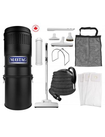 Ensemble d'aspirateur central Maytag® - 566 watts-air - boyau de 9 m (30') - balai à air - accessoires complets