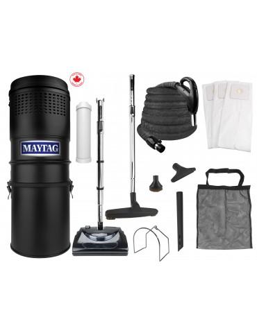Ensemble d'aspirateur central Maytag® - 566 watts-air - boyau de 9 m (30') - balai électrique - accessoires complets